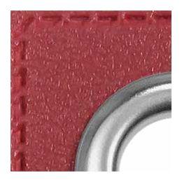 Ösen Patches für Kordeln Lederimitat 8mm bordeaux
