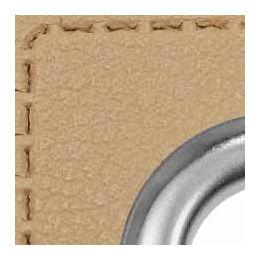 Ösen Patches für Kordeln Lederimitat 8mm beige