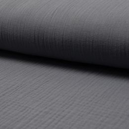 Musselin Uni dark grey