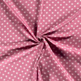 Musselin Stars dark pink