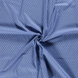Baumwolle Flowers indigoblau