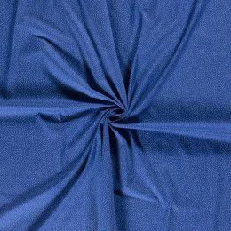 Baumwolle Punkte indigoblau
