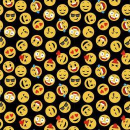 Baumwolle Emoticons schwarz