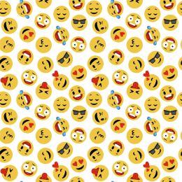 Baumwolle Emoticons weiss