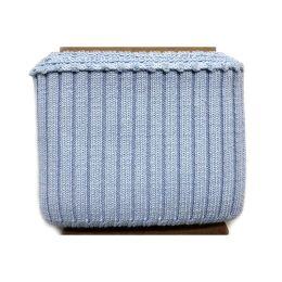 Fertigbündchen Strick Uni hellblau