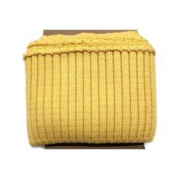 Fertigbündchen Strick Uni gelb