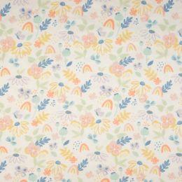 Jersey Flowers ecru