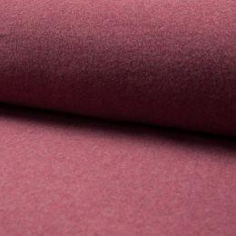 Baumwoll Fleece bordeaux melange