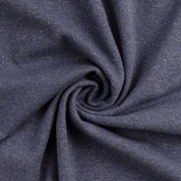 Glamour Bündchen meliert jeansblau/silber