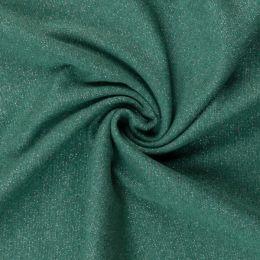 Glamour Bündchen meliert dunkelgrün/silber