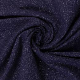 Glamour Bündchen meliert dunkelblau/silber