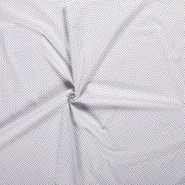 Baumwollstoff Minidots weiß
